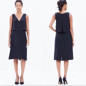 Madewell luminous overlay sleeveless black dress